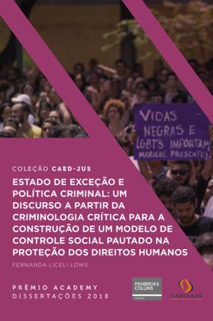 capa_Estado de exceção e política criminal - Fernanda Licéli Lowe